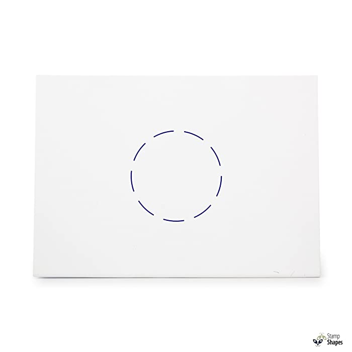 Dashed Circle Geometry Dashes Dash, Rubber Stamp Shape great for Scrapbooking, Crafts, Card Making, Ink Stamping Crafts, Item 695535