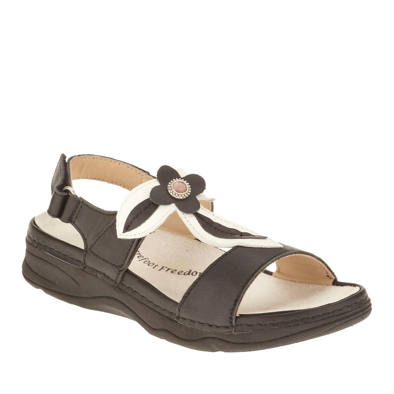 Drew Alana Women's Sandal B00S9WV1T0 8.5 E US|Black/White