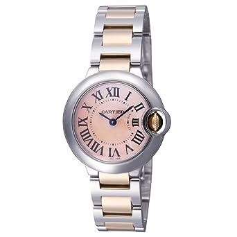the latest df61c cf735 Amazon.com: Cartier Ballon Bleu T/T Ladies Watch W6920034 ...