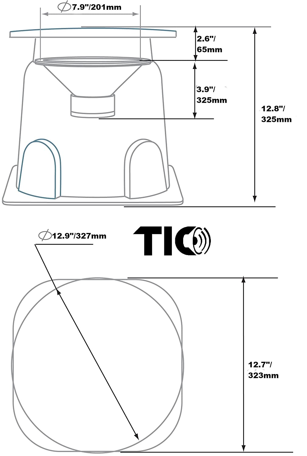 Tic Gs50 8 Outdoor Weather Resistant Omnidirectional In Passive Subwoofer Wiring Diagram Ground Home Audio Theater