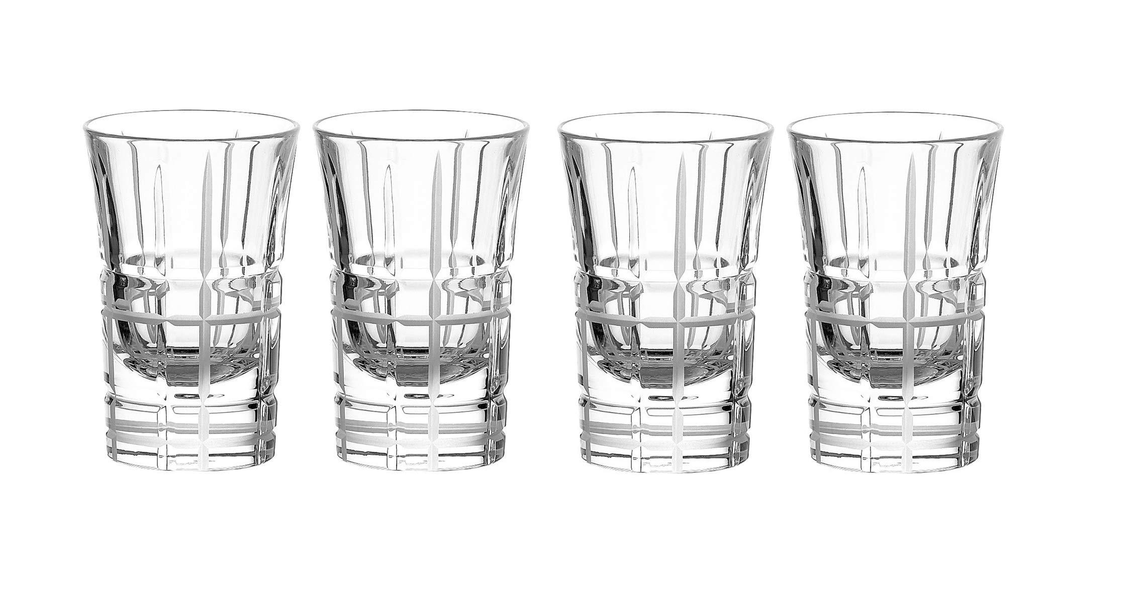 Christofle Scottish Set of 4 Crystal Shot Glasses #7908440