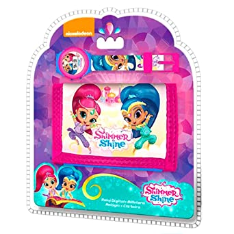 Shimmer y brillo, Digital, Con licencia oficial de reloj y cartera, Set de regalo: Amazon.es: Relojes