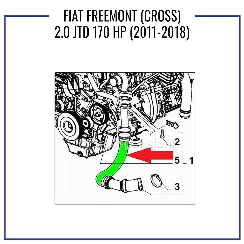 F I A T FREEMONT 2.0 JTD 170 HP MANICOTTO INTERCOOLER TUBO ARIA 68081101AC 68081102AB CROSS