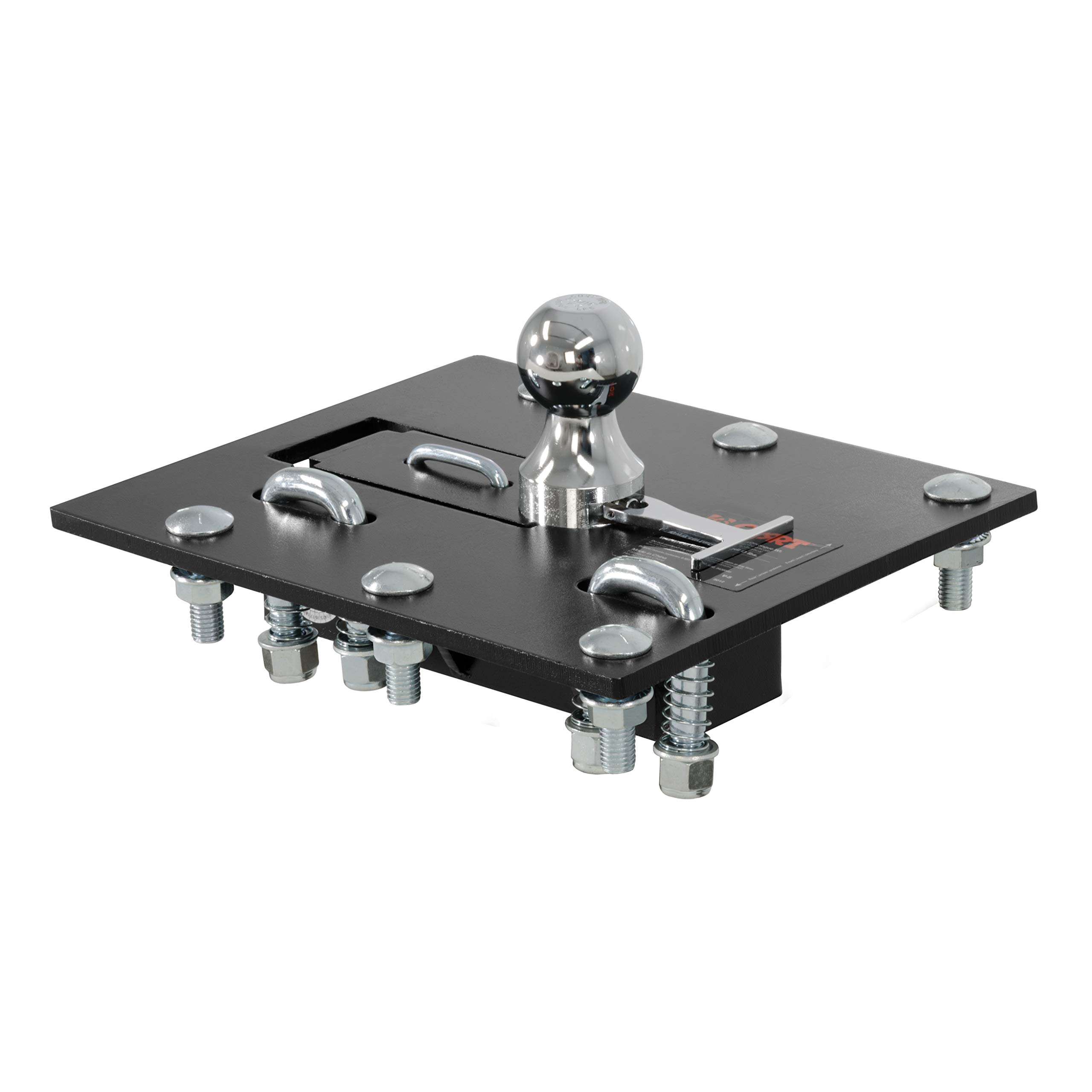CURT 61052 Black, 2-5/16-Inch Bed Folding Gooseneck Hitch (30,000 lbs. GTW, 2-5/16'' Ball, Installation Brackets Sold Separately) by CURT