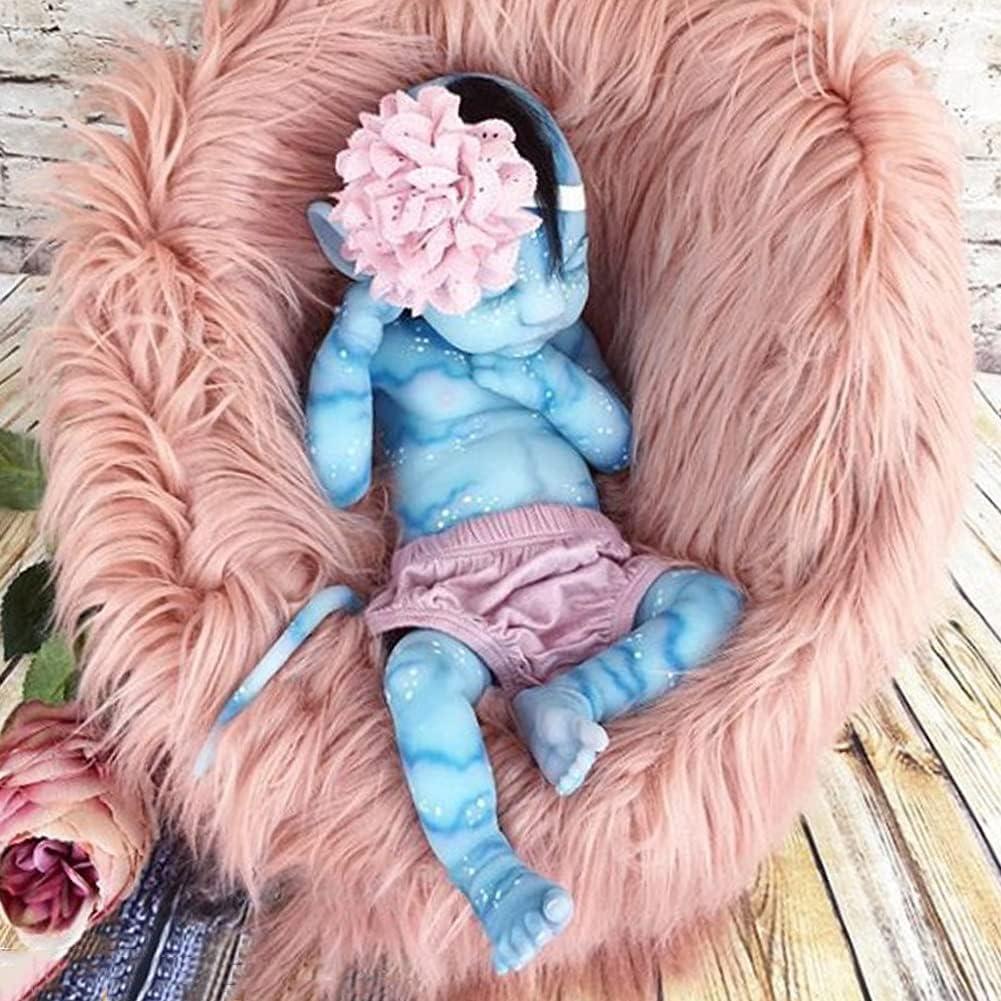 Muñeca Bebé, 55 cm Hecho a Mano Las Extremidades Pueden Moverse Reborn Muñecas de Bebé Silicona Suave para Niños Mayores de 3 Años Juguete
