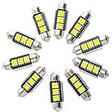 Neuftech 10x 3 SMD C5W LED 36mm Canbus Bianco Targa/ interno Luce Festoon Bulb Lampadine Siluro AUTO
