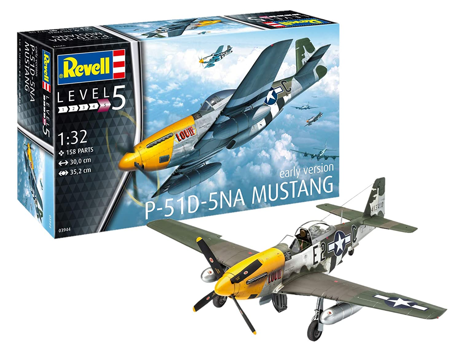 revell 1 32  : Revell 03944 - P-51D Mustang 1:32 Scale: Toys & Games