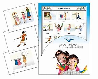Yo-Yee Flashcards - Verbs 4 - Schede illustrate per favorire l'apprendimento linguistico - Per le lezioni di inglese negli asili e nelle scuole materne