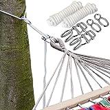 Kit para Colgar Hamacas a los Àrboles   Cuerda 6 m   Peso máximo soportado 160 Kg   Kits Completo