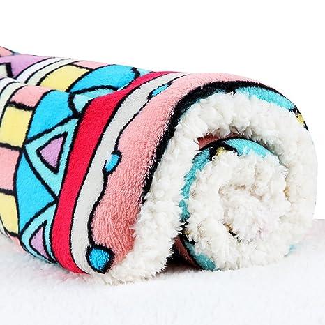 Camas para Gatos Sofás Mantas de Cama de Mascota de Lana súper Suave Mantas de Almohada