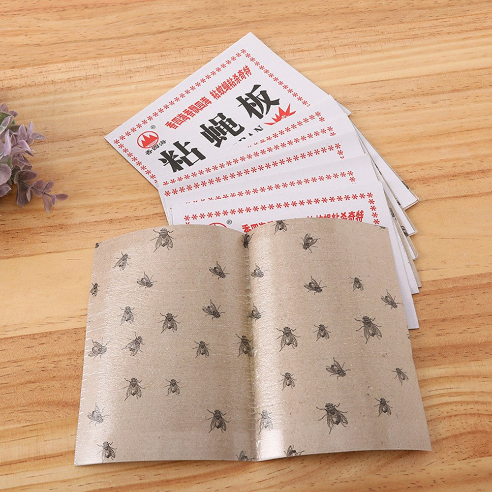 Hunpta@ Sticky Glue Paper Fly Flies Trap Catcher Bugs Insects Catcher Board (20 Pcs)