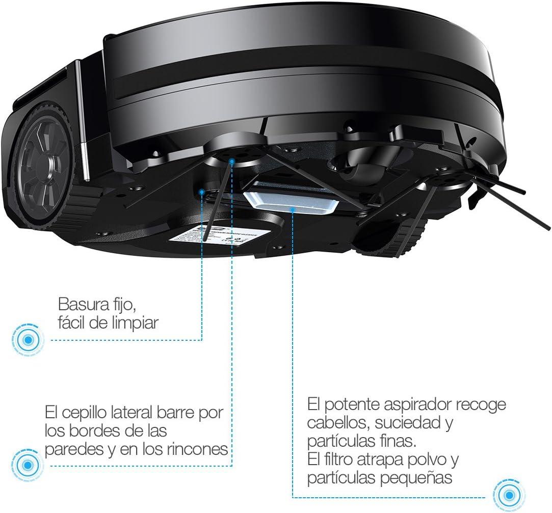 Housmile Robot Aspirador de Limpieza con Sensores Inteligentes,2 Modos de Limpieza para el Pelo de Mascotas, Pisos Duros y Delgado Alfombra Color-Negro: Amazon.es: Electrónica