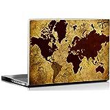 Seven Rays Grunge Vintage World Map Laptop Skin