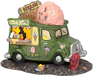 Department 56 Snow Village Halloween Accessories I Scream Ice Cream Truck Lit Figurine, 4.72 inch, Multicolor