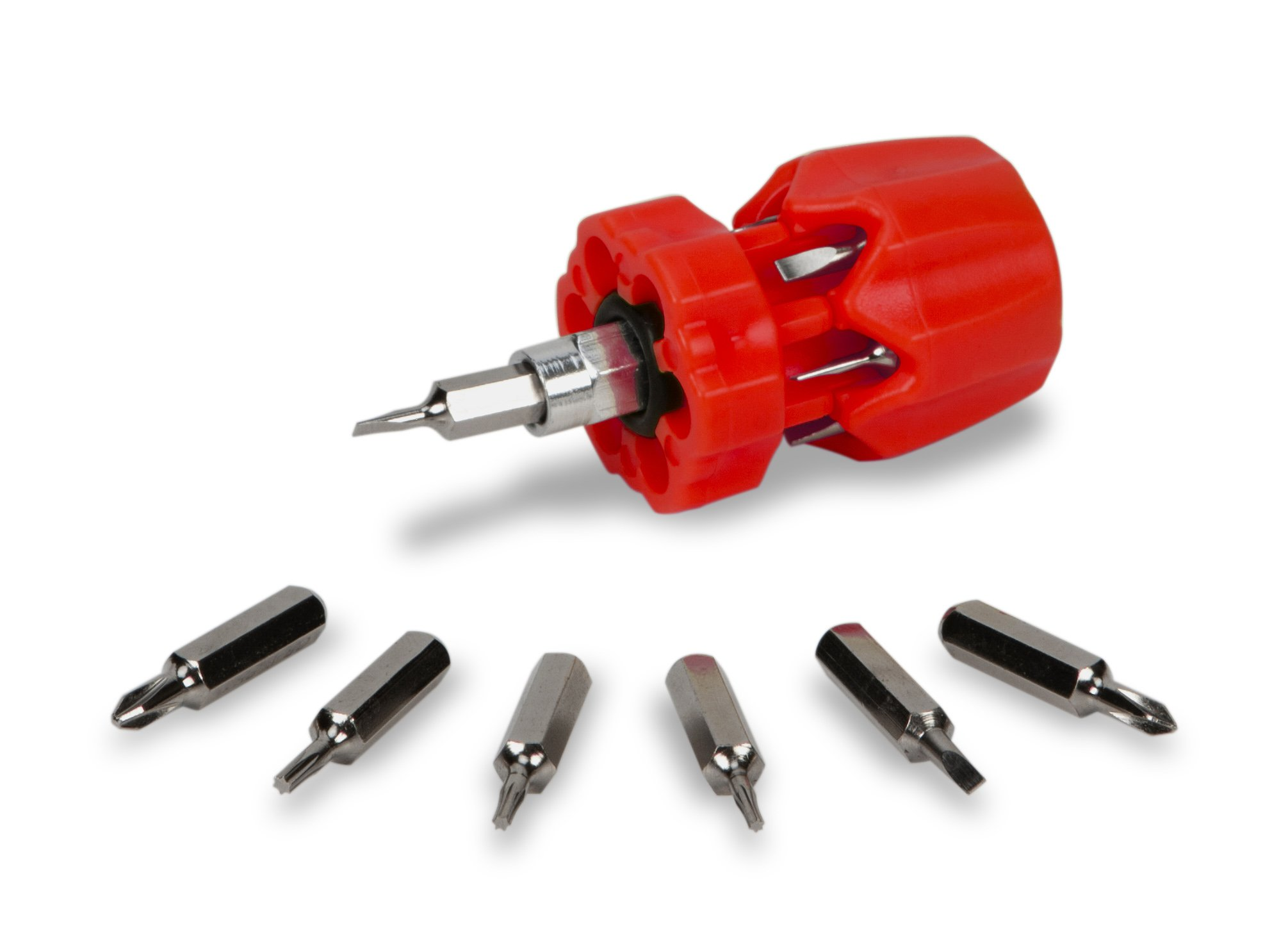 Performance Tool W476 Stubby Precision Screwdriver, 7 Piece (Phillips, Slotted Star Bits)