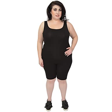e582d67f7512d Stretch is Comfort Women s Dance Workout Tank Unitard BIKETARD Black Small