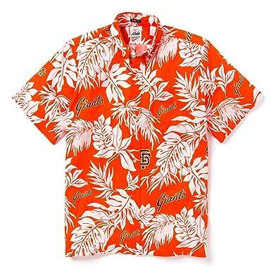 e57799f7 Reyn Spooner Men's San Francisco Giants MLB Classic Fit Hawaiian Shirt,  Aloha 2019, Medium
