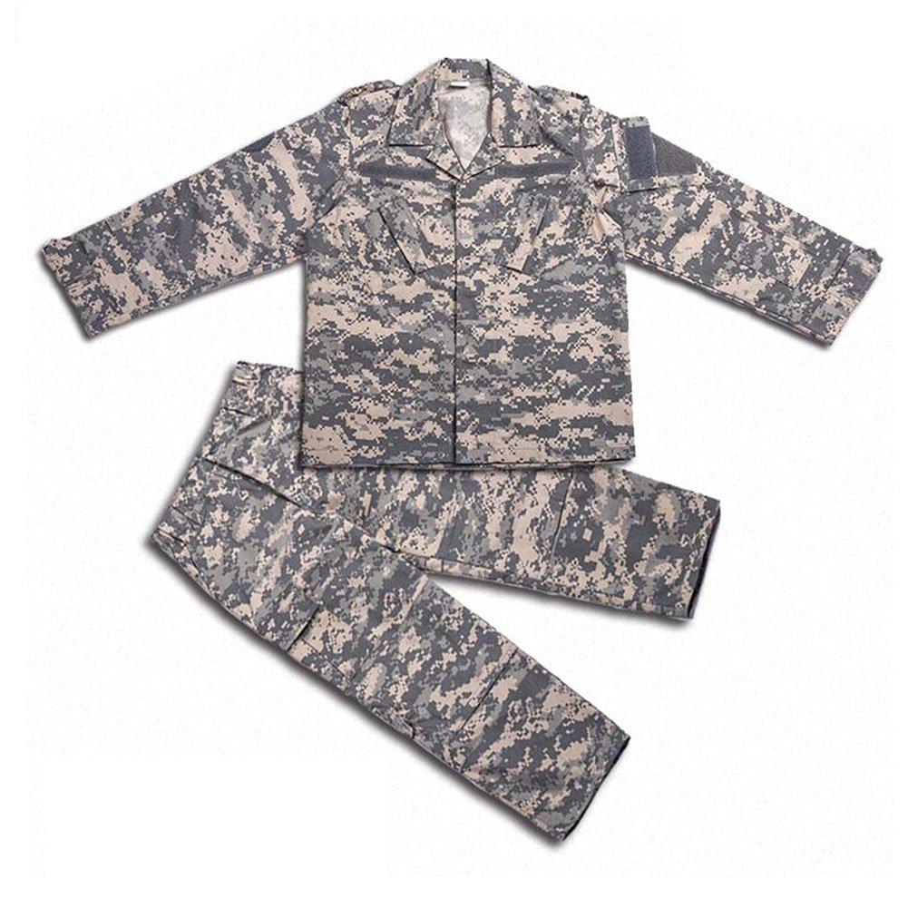 H mundo compra Tactical Airsoft niños ropa niños BDU caza Militar camuflaje chaqueta de uniforme de combate Camisa y pantalones H World Shopping