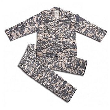 H World Shopping H Mundo Compra Tactical Airsoft niños Ropa niños BDU Caza Militar Camuflaje Chaqueta de Uniforme de Combate Camisa y Pantalones: Amazon.es: ...