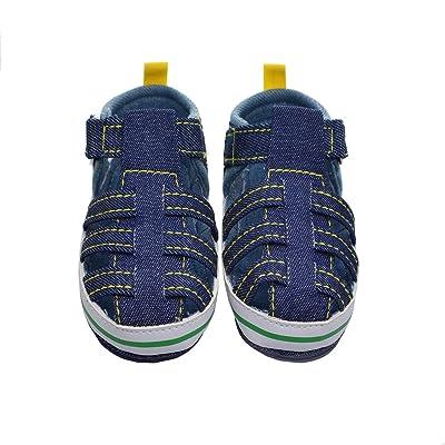 Hongfei Bébé Bébé Chaussures Chaussures antidérapantes à semelle souple Velcro Walk Sandals