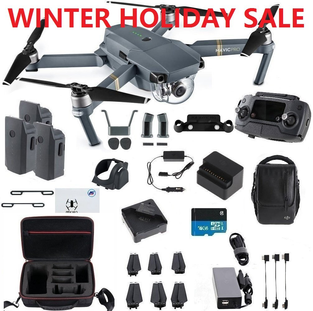 DJI Mavic Pro Fly More Combo Travel Bundle, 3 Batteries, Professional Case and More by DJI