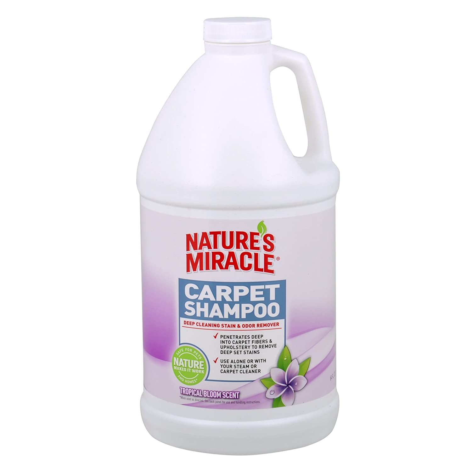 Nature's Miracle Tropical Bloom Scent Deep Cleaning Carpet Shampoo, Tropical Bloom.5 Gallon