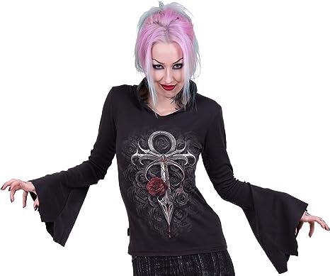 Spirale à Capuche Gothique élégance gothique capuche noir femme