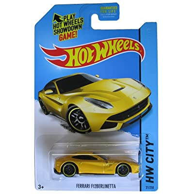 Hot Wheels 2014 HW City Ferrari F12 Berlinetta Yellow #31/250 by Mattel: Toys & Games