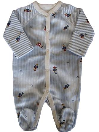 42725c729a338 Amazon.com  Polo Ralph Lauren Baby Boy s Polo Bear Interlock Coveralls
