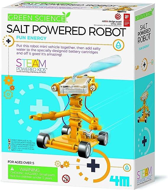 Amazon Com 4m Green Science Salt Water Powered Robot Kit Green