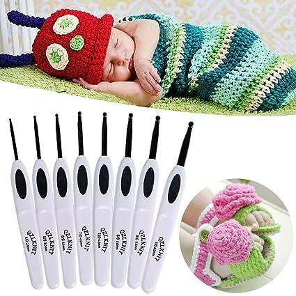 Amazon Aixia 8 Size White Crochet Hook Sewing Knitting Needle