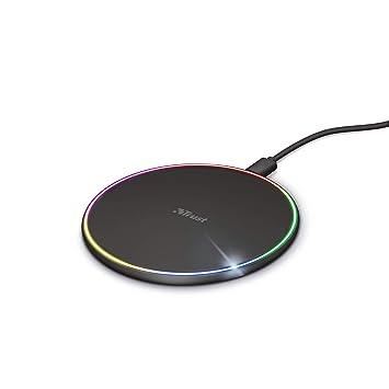 Trust Lumo10 Cargador inalámbrico rápido RGB para ...