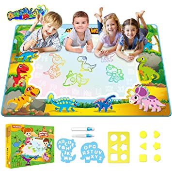 Buy Tecboss Water Drawing Mat Dinosaur Aqua Magic Educational Mat Mess Free Painting Pad Doodle Board Best Christmas Birthday Gifts For Age 2 3 4 5 Years Old Boys Girls Kids Online