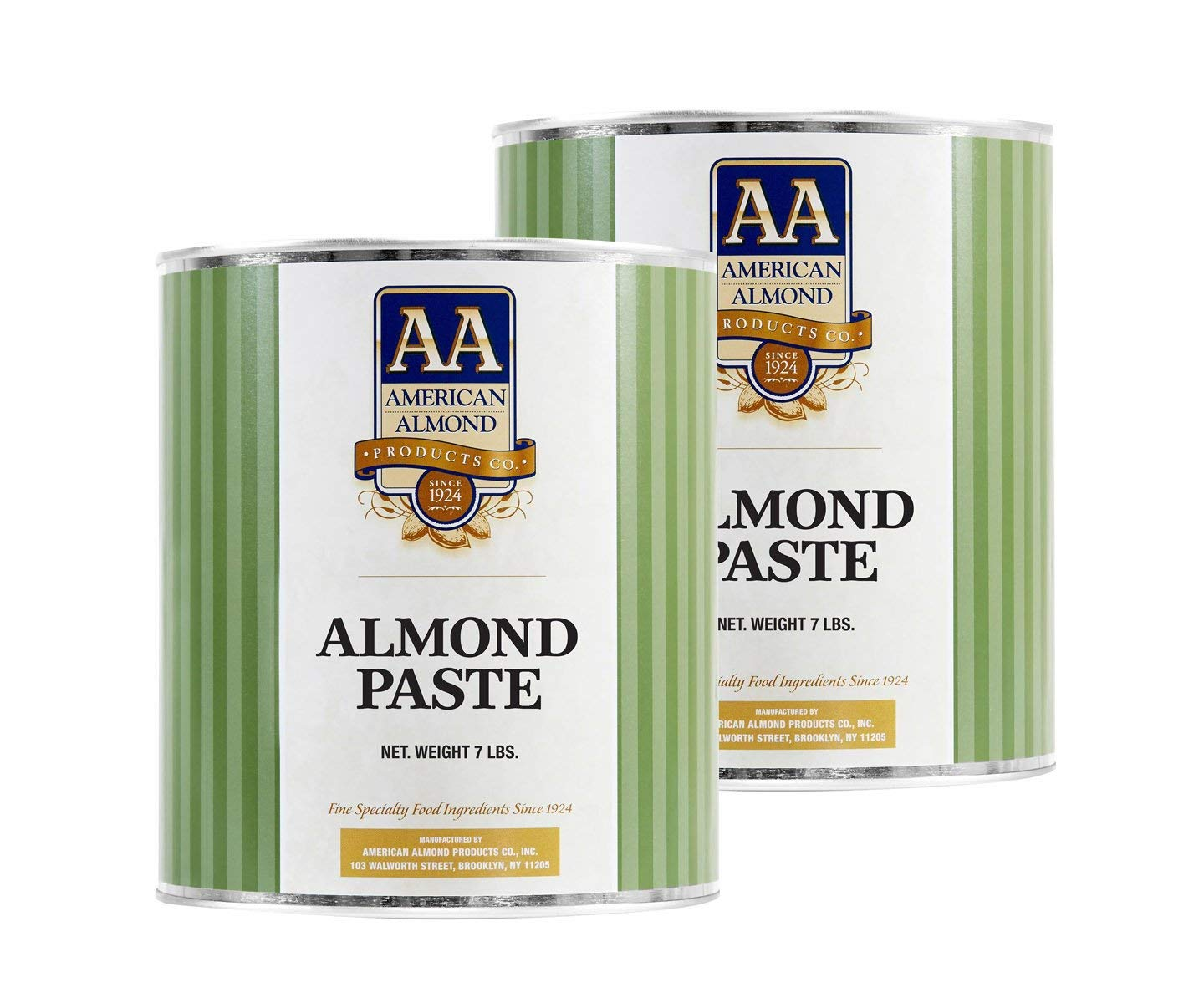 Cacaoholic - Almond Paste by American Almond | Two Pack - 7 lb Can Each by Cacaoholic
