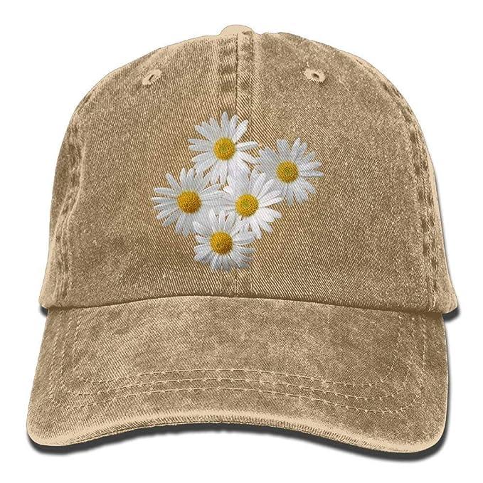 Margaritas Flores Sombrero de Mezclilla Blanco Gorras de béisbol ...