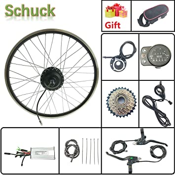 Schuck Kit de conversión de Bicicleta eléctrica Rueda Trasera de ...