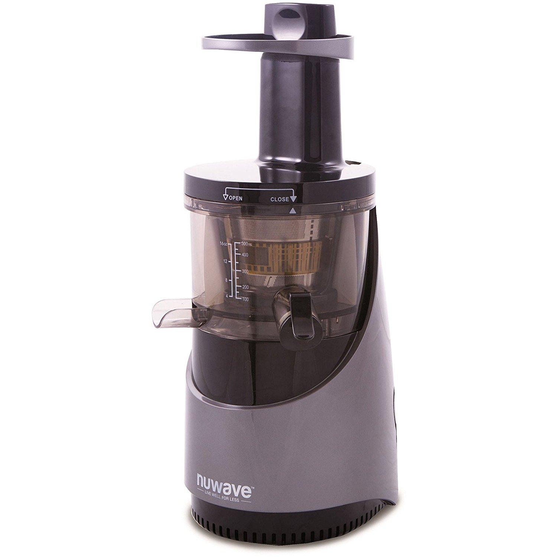 Nu Wave 27001 Nutri-Master Slow Juicer, 16 oz, Black/Silver by Nu Wave