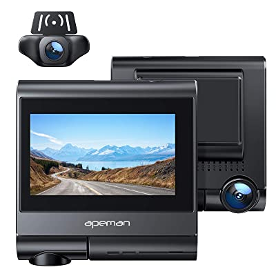 APEMAN 4K max Dash Cam with OLED Touch Screen, Built-in GPS, Wi-Fi, Both 1080P Front and Rear Dual Dash Camera for Cars with Sony Sensor, Parking Mode, Motion Detection, G-Sensor: Electronics