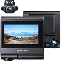 APEMAN Touch Screen Dual Dash Cam Built-in GPS, Wi-Fi, 1920x1080P Front and Rear Car Camera, 4K Single Front, with…