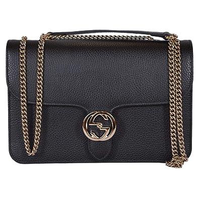d03f596de3e Amazon.com  Gucci Bree Guccissima Black Crossbody Leather Bag New  Shoes