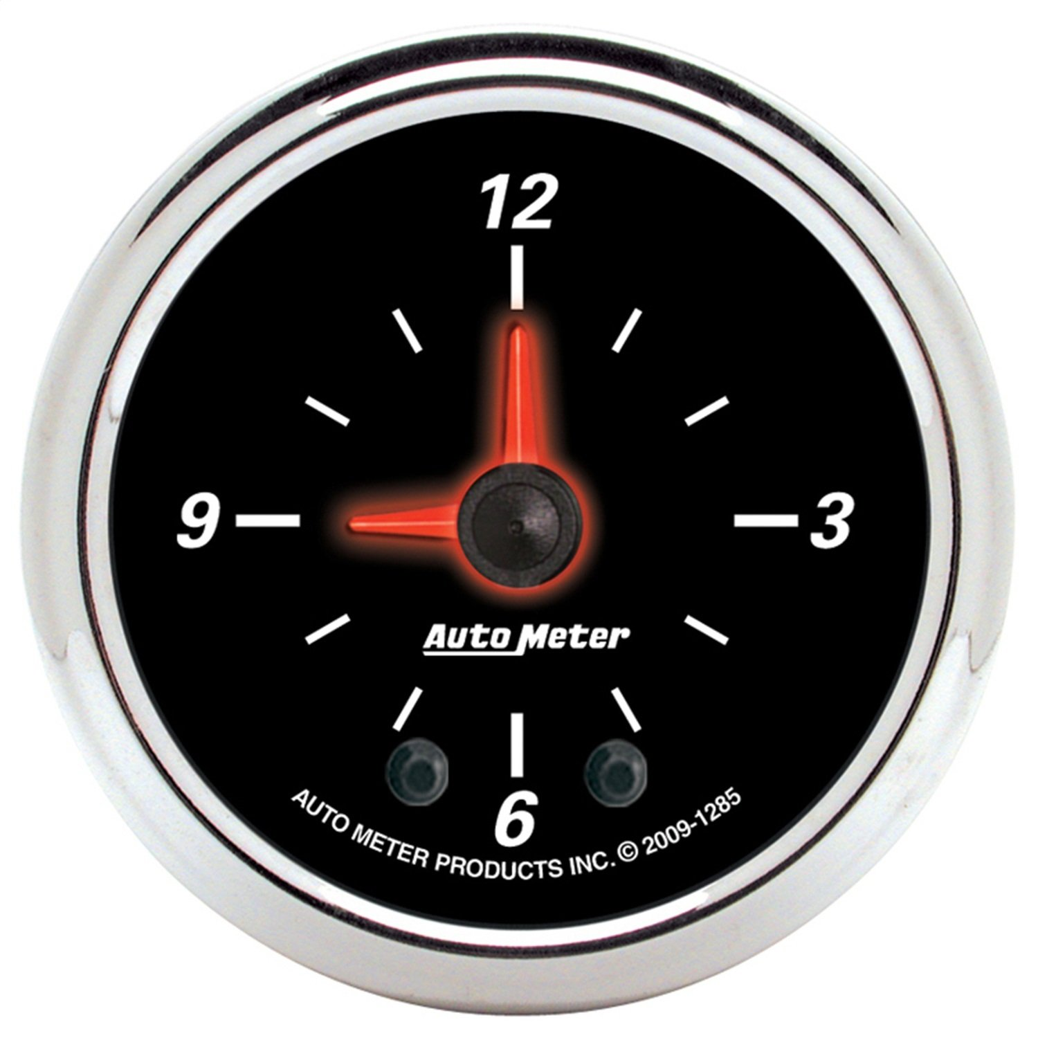 Auto Meter 1285 Designer Black II 2'' Analog Illuminated Clock Gauge