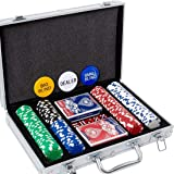 Yinlo Poker Chips Set - 200PCS / 300PCS Poker Sets with Aluminum Case, 11.5 Gram Casino Chips for Texas Holdem Blackjack Gamb