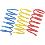 Tamu style Cat Spring Toys (30 Pack), Plastic Coils for Indoor Active Healthy Play, Colorful 2 Inch Spirals