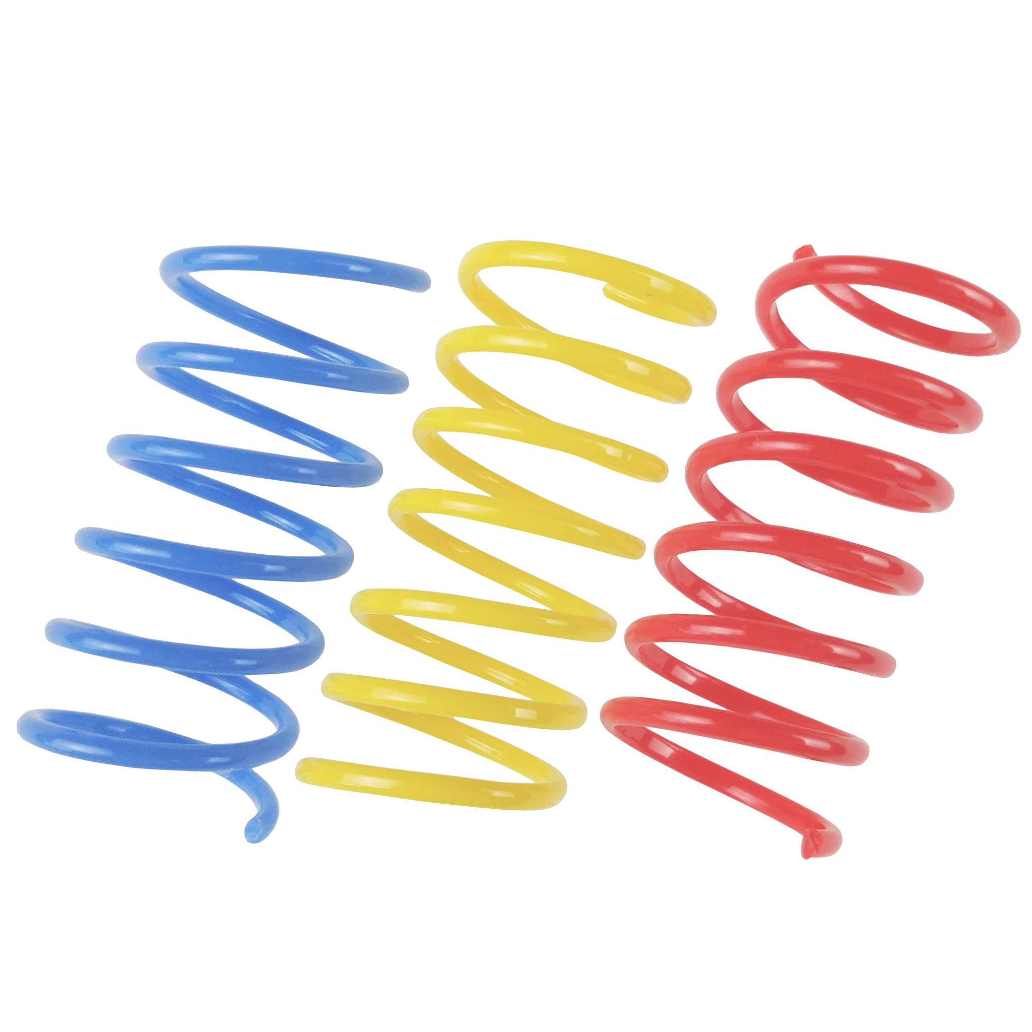 Tamu style Cat Spring Toys (60 Pack), Playful Coils for Kittens, BPA Free Plastic for Swatting, Biting, Hunting, and Active Healthy Play, Colorful 2 Inch Spirals