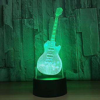 Pegatina 3d luz de la guitarra Ordenador Visión Luz Lámpara de ...