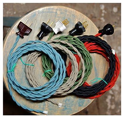 71rntHpeEAL._SX425_ amazon com 8' twisted cloth covered wire & plug, vintage light