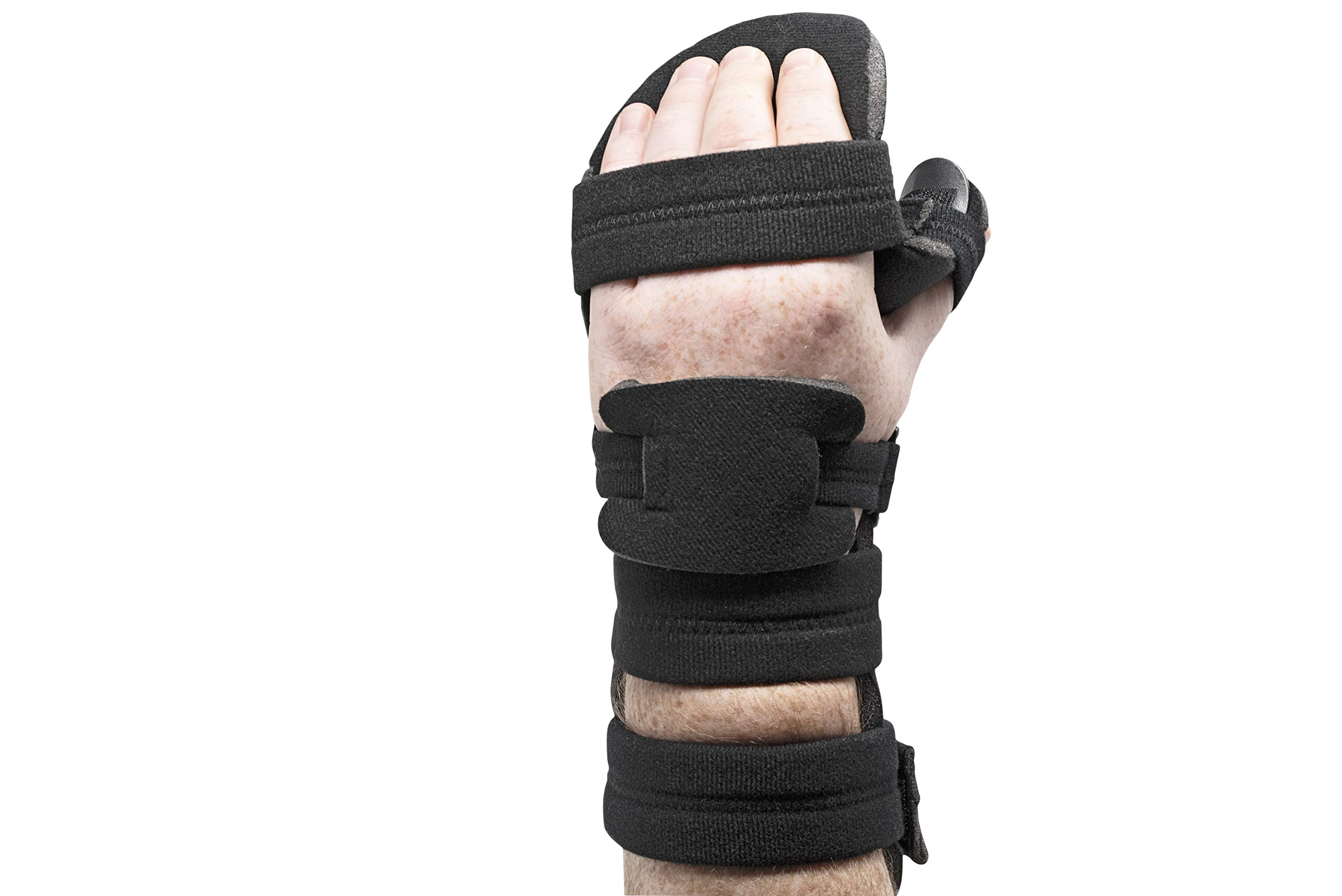 Stroke Hand Splint- Soft Resting Hand Splint for Flexion Contractures, Comfortably Stretch and Rest Hands for Long Term Ease with Functional Hand Splint, an American Heritage Industries(Left, Small) by American Heritage Industries (Image #2)