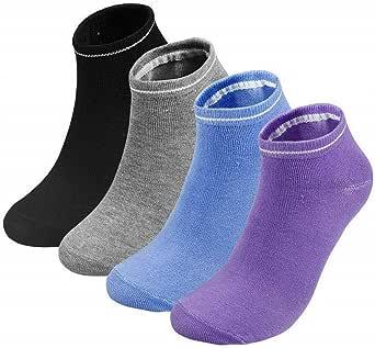 4 Pairs Yoga Fitness Grip Excercise Socks Sport Rubber Pilates Non Slip Sock Gym