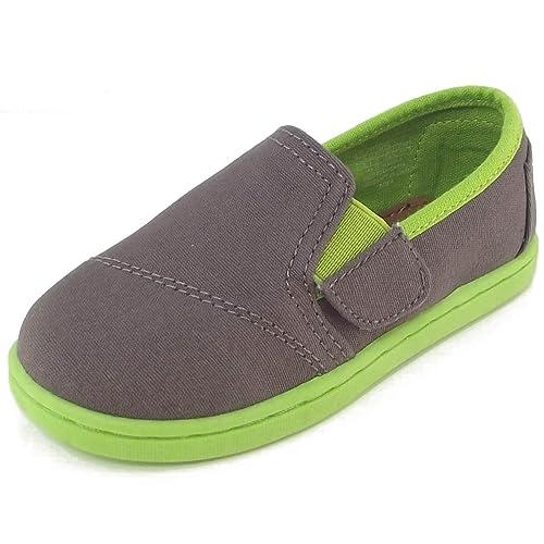 TOMS - Mocasines de Lona para niño, Color Gris, Talla 22 EU / 6 US C / 5 UK C: Amazon.es: Zapatos y complementos
