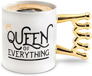 BigMouth Inc Queen of Everything Mug, Holds 20oz, Ceramic Cup for Coffee and Tea with Handle, Funny Novelty Cup